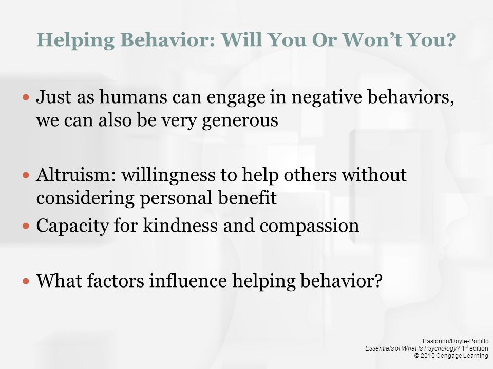 Helping Behavior: Will You Or Won't You