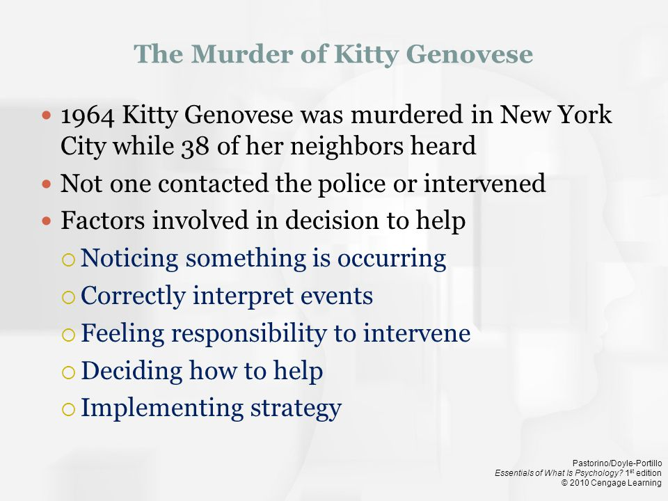 The Murder of Kitty Genovese
