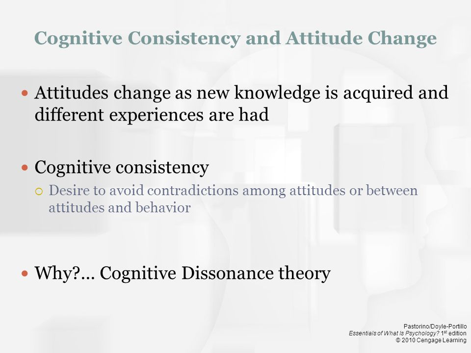 Cognitive Consistency and Attitude Change