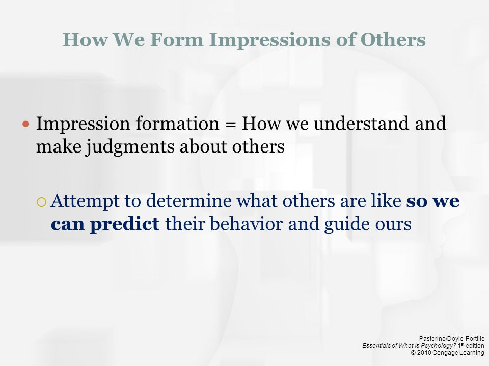 How We Form Impressions of Others