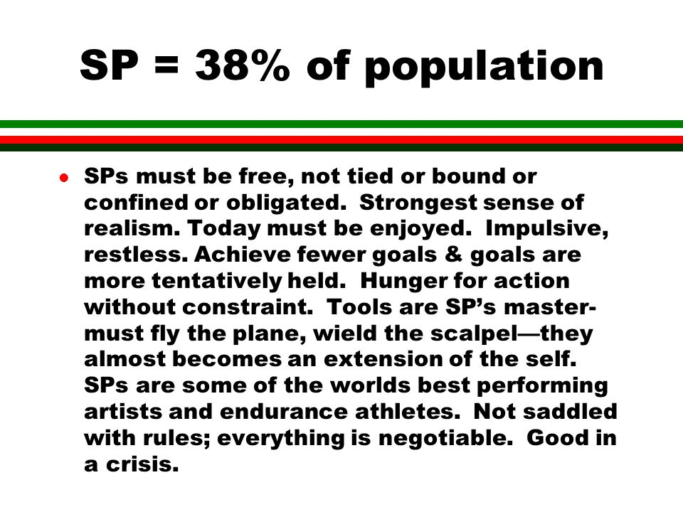 SP = 38% of population