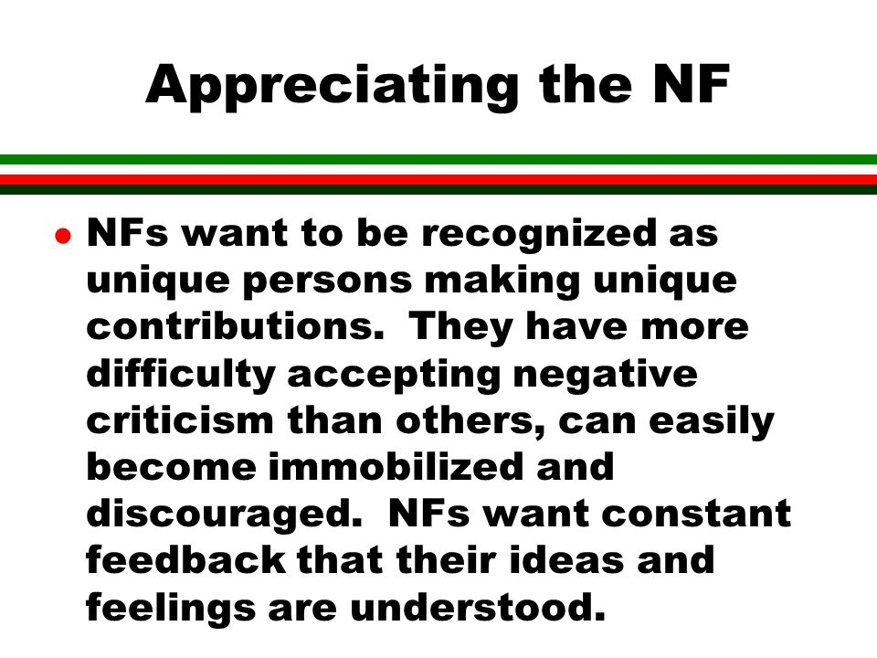 Appreciating the NF