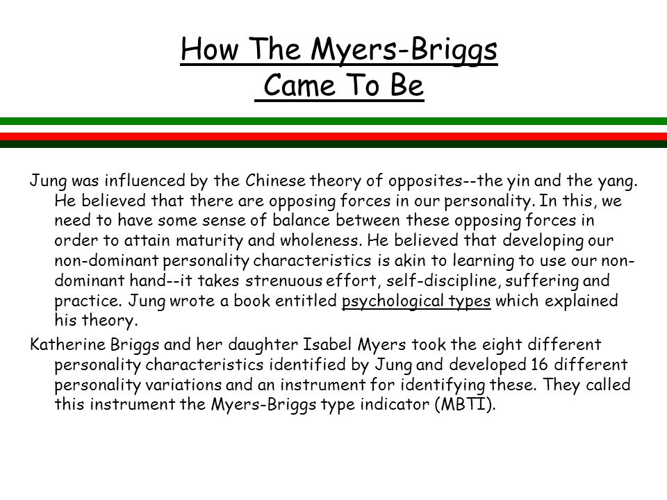 How The Myers-Briggs Came To Be