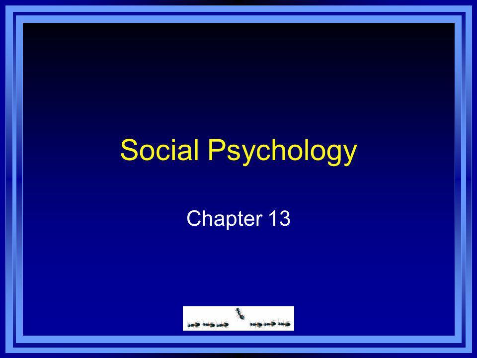Social Psychology Chapter 13
