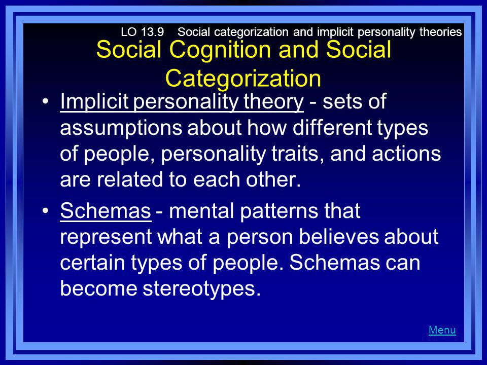 Social Cognition and Social Categorization