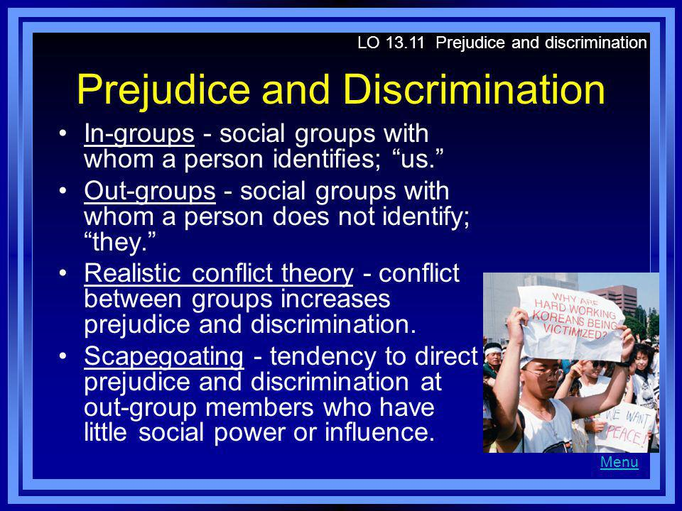 a study on the theory of realistic conflict in social psychology Realistic conflict theory proposes that intergroup conflicts arise between groups as they compete over the same limited resources this is a possible cause of prejudice and discrimination development within a society[1] generally useful for understanding intergroup conflict  social psychology refers to the study of how individual's.