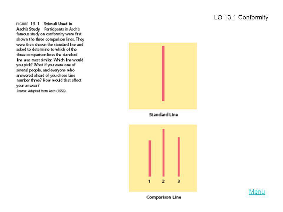 LO 13.1 Conformity Menu