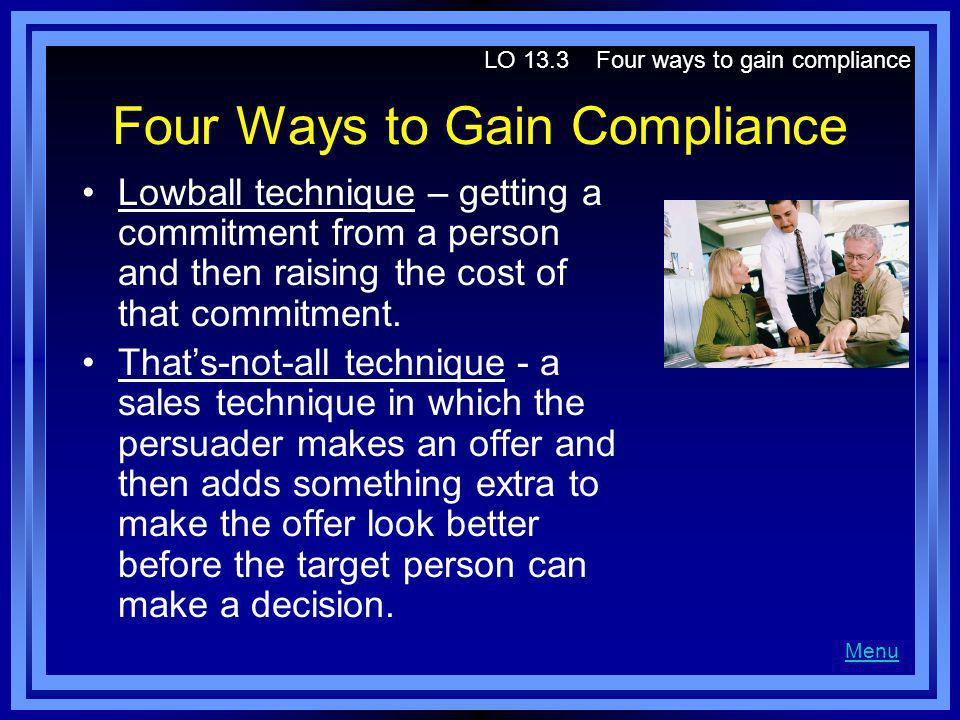 Four Ways to Gain Compliance
