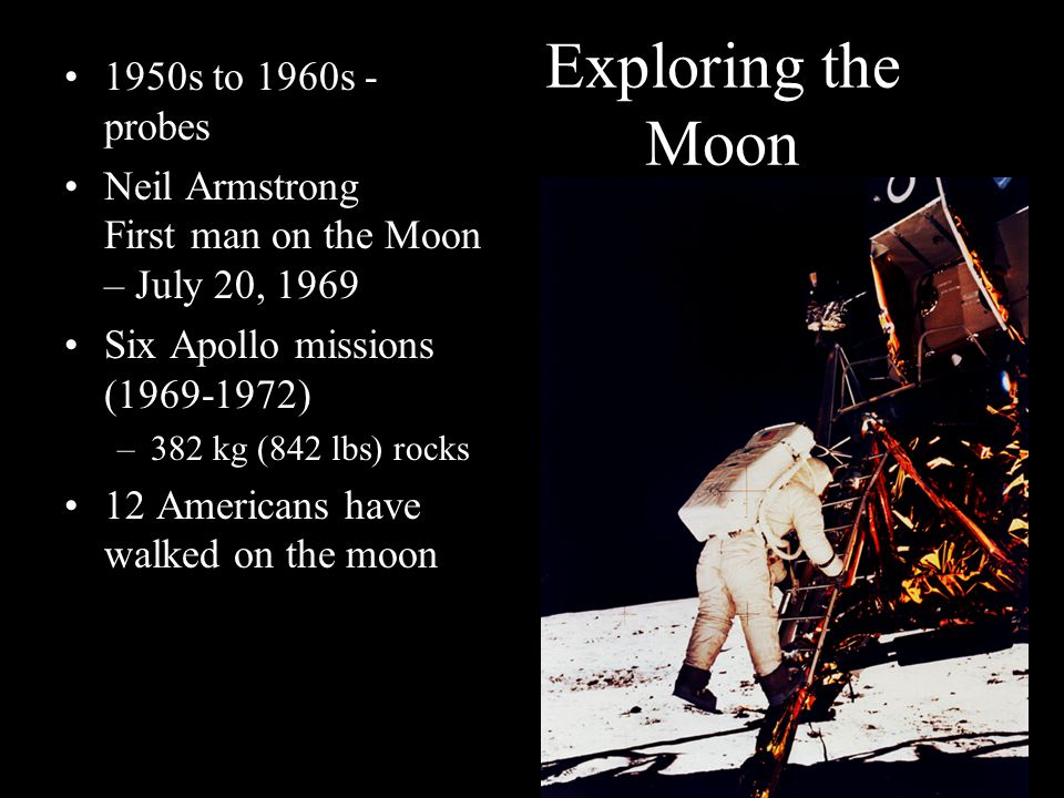 Exploring the Moon 1950s to 1960s - probes
