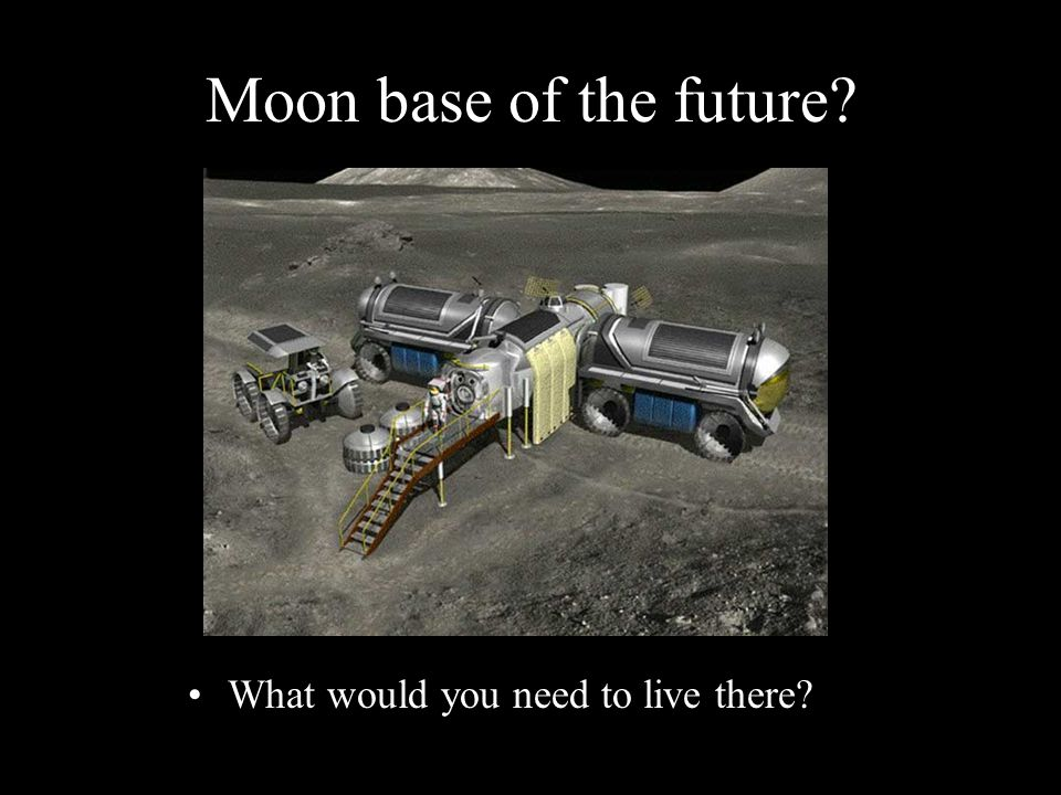Moon base of the future What would you need to live there