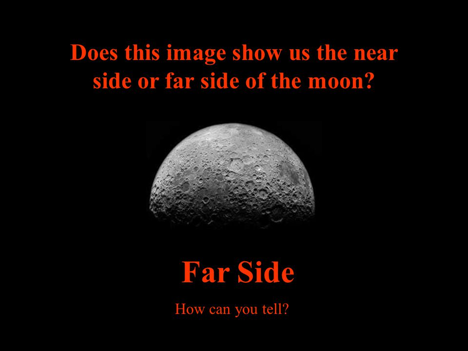 Does this image show us the near side or far side of the moon