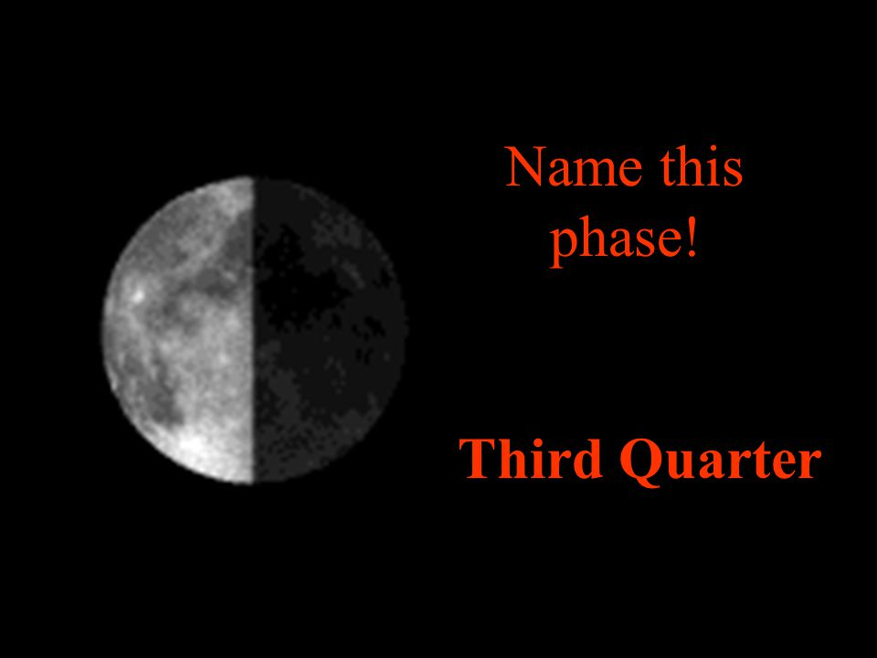 Name this phase! Third Quarter