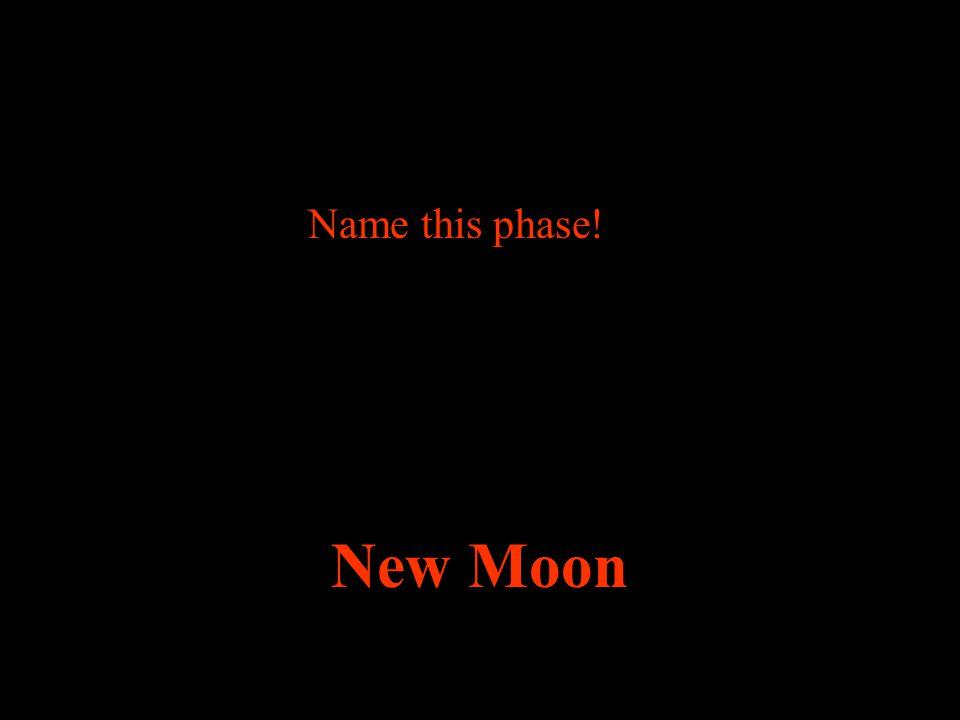 Name this phase! New Moon