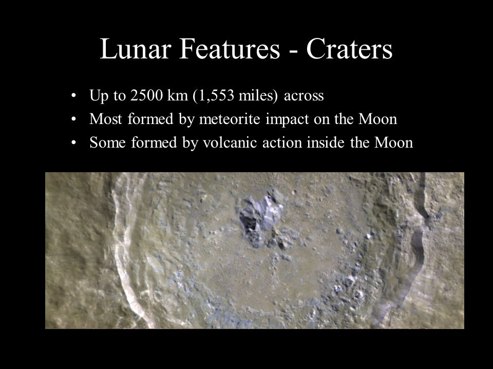 Lunar Features - Craters