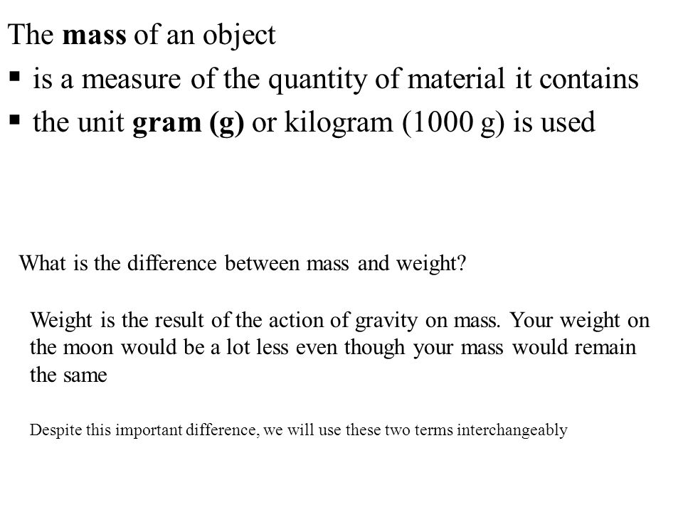 is a measure of the quantity of material it contains
