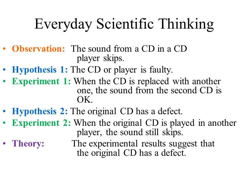 Everyday Scientific Thinking