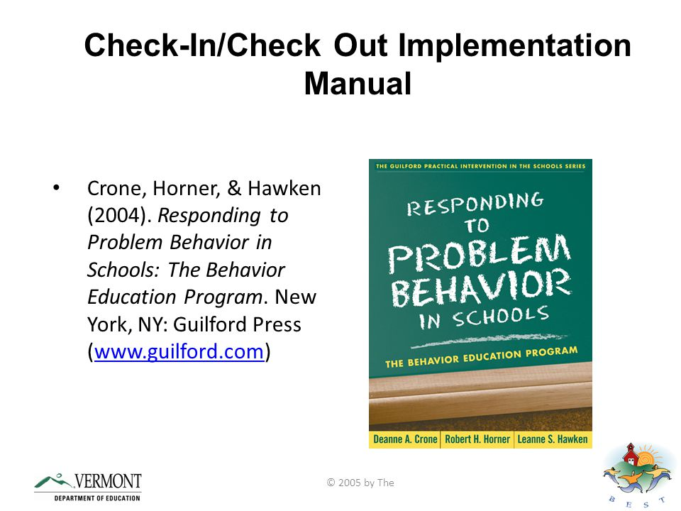 Check-In/Check Out Implementation Manual