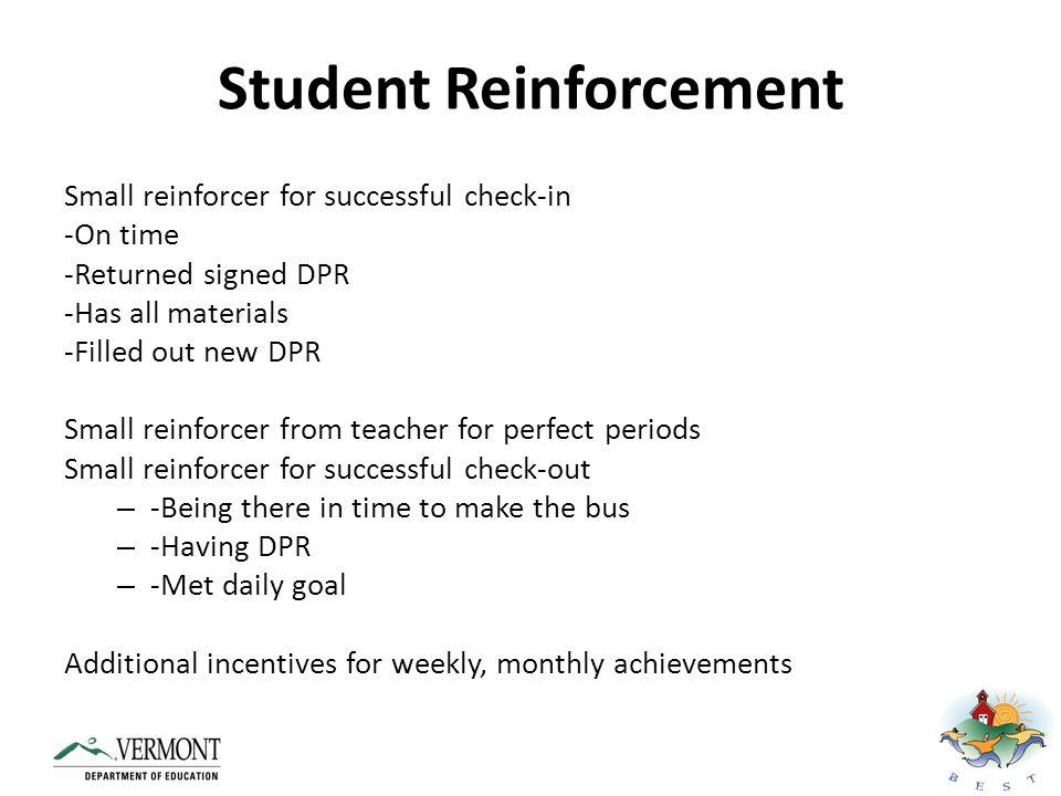 Student Reinforcement