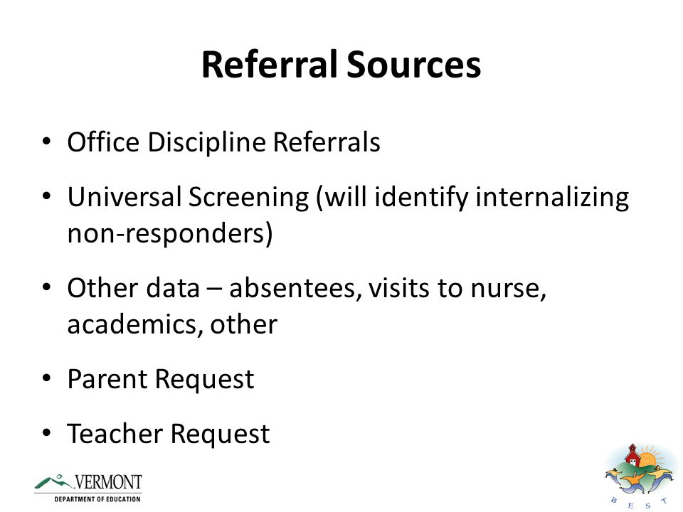 Referral Sources Office Discipline Referrals
