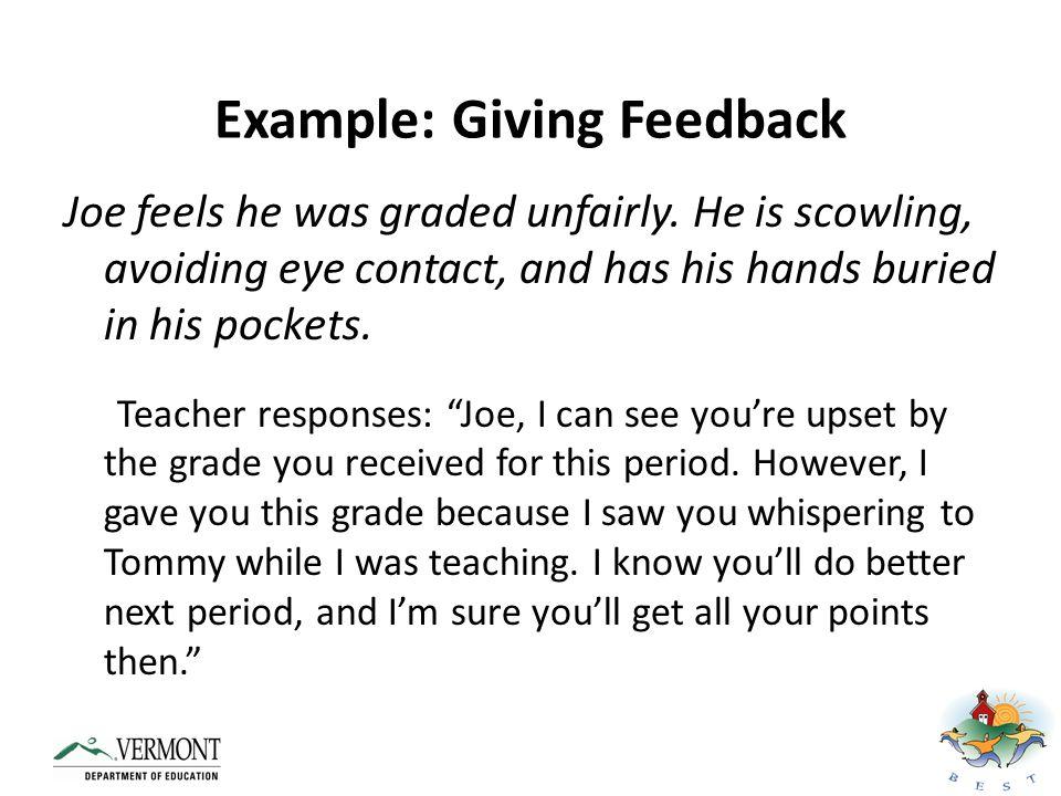 Example: Giving Feedback