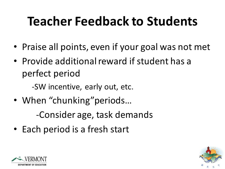 Teacher Feedback to Students