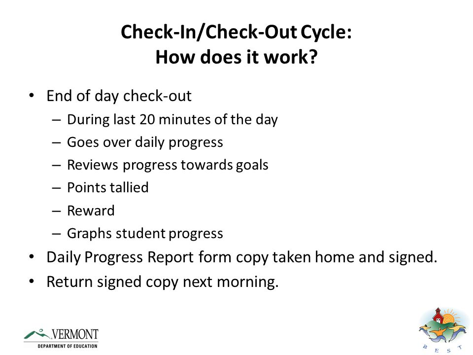Check-In/Check-Out Cycle: How does it work