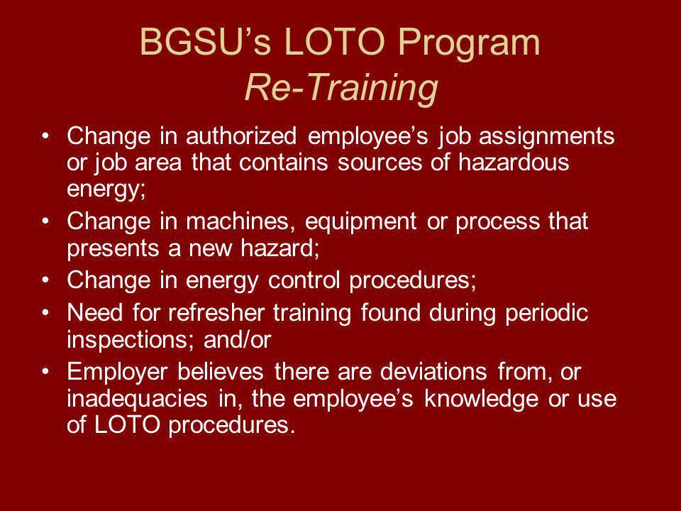 BGSU's LOTO Program Re-Training