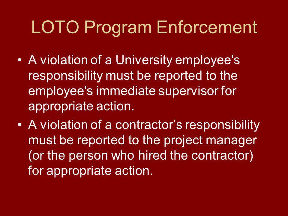 LOTO Program Enforcement