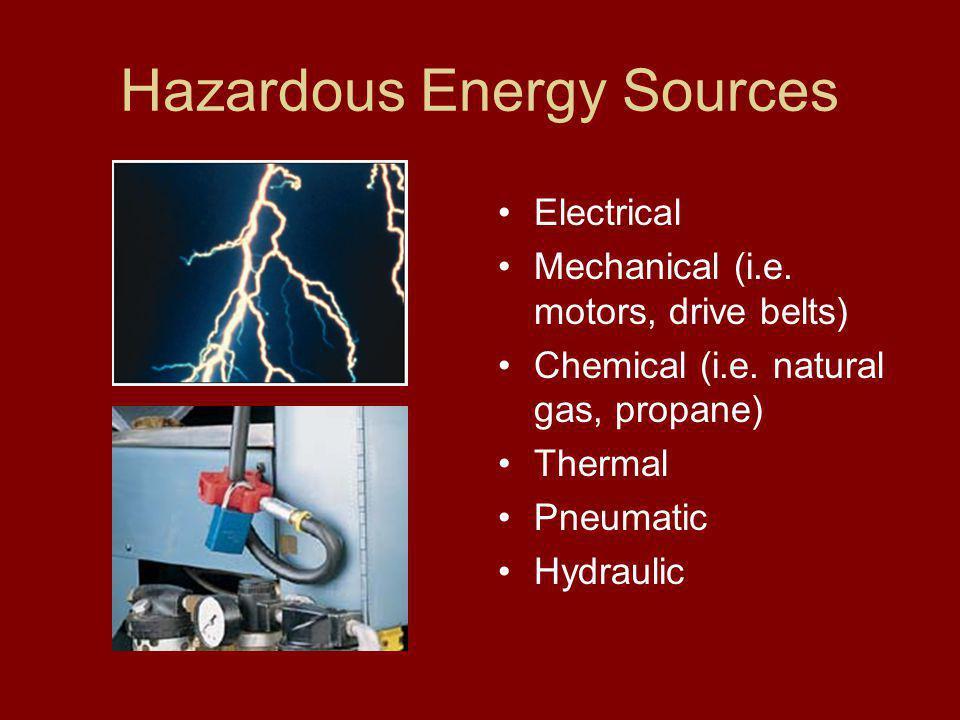 Hazardous Energy Sources