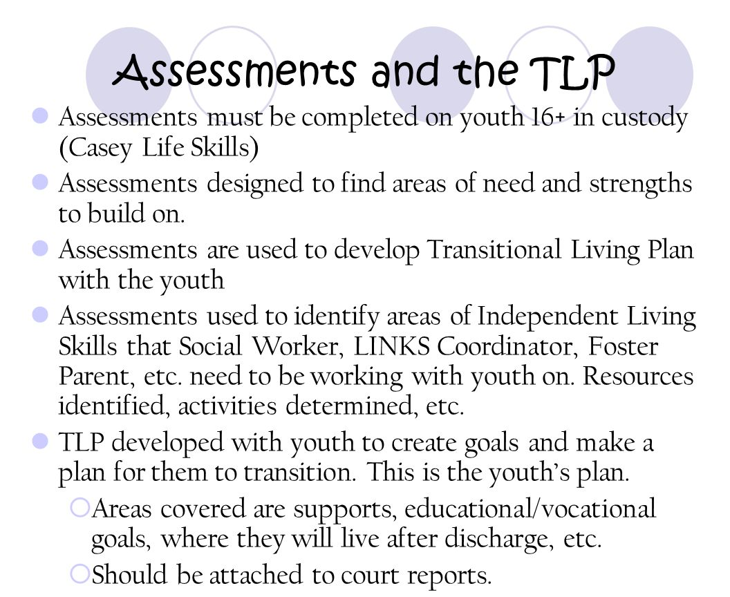 Assessments and the TLP