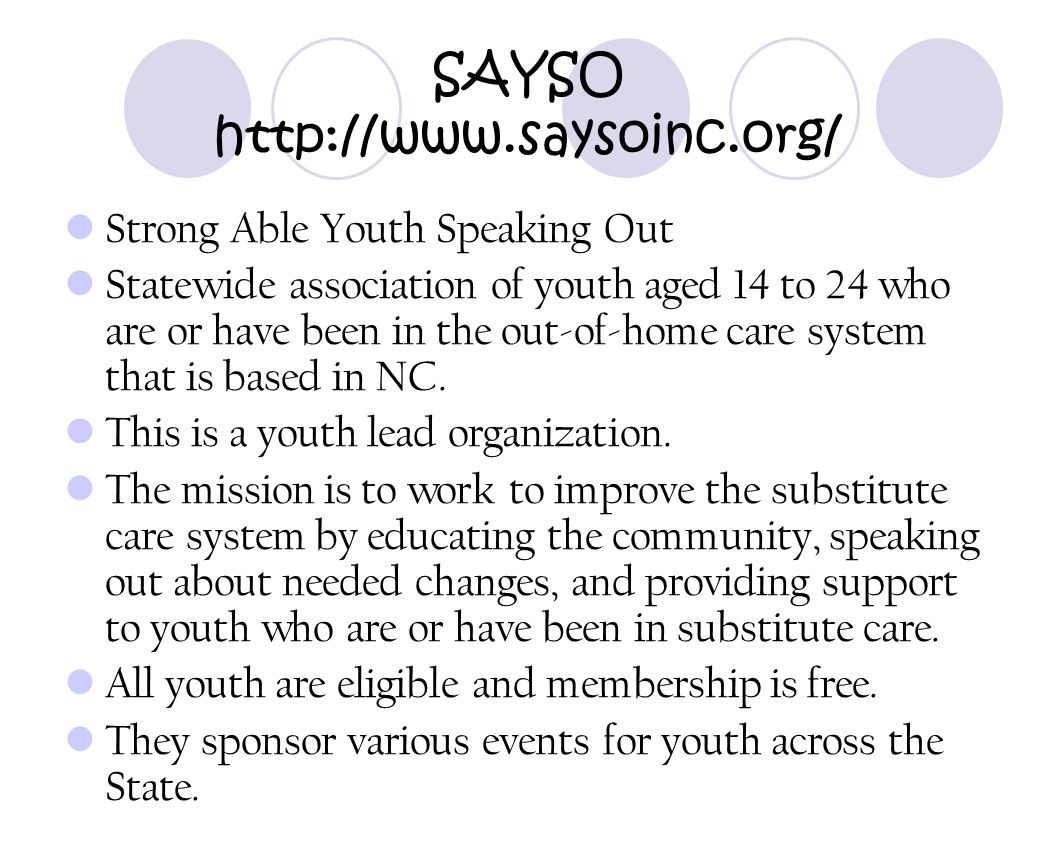 SAYSO http://www.saysoinc.org/