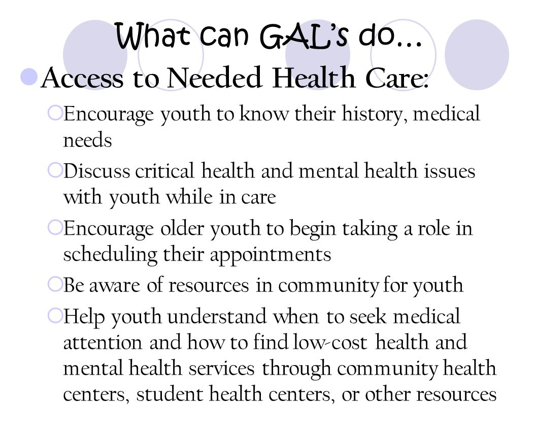 Access to Needed Health Care: