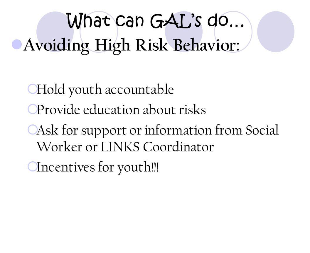 Avoiding High Risk Behavior:
