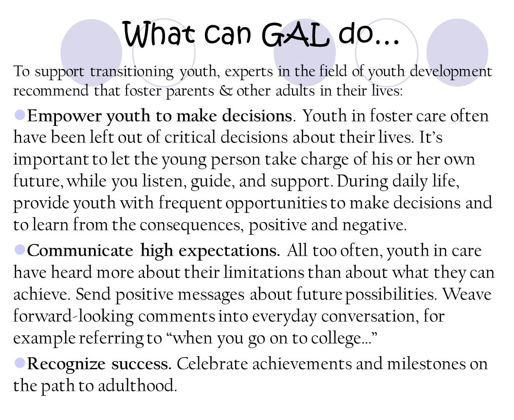 What can GAL do…