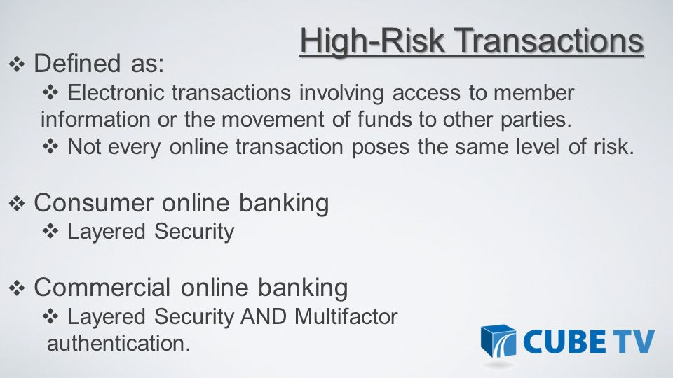 High-Risk Transactions