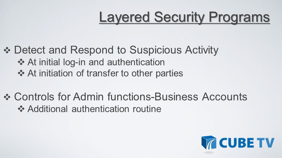 Layered Security Programs