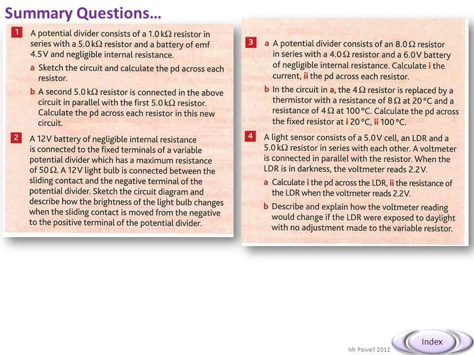Summary Questions…