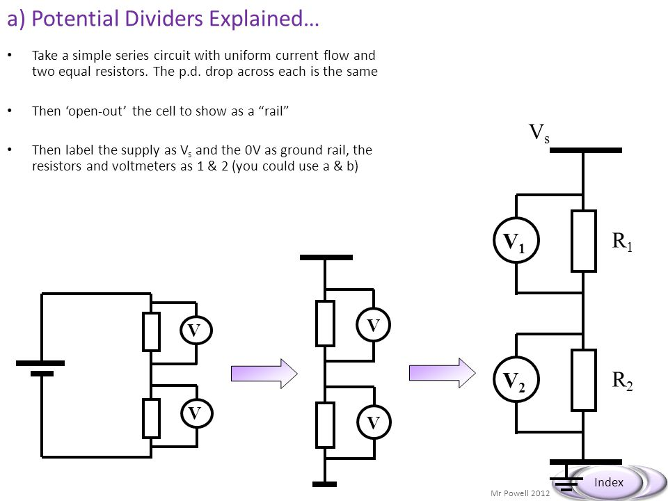 a) Potential Dividers Explained…