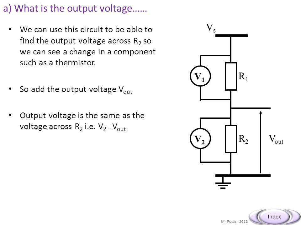 a) What is the output voltage……