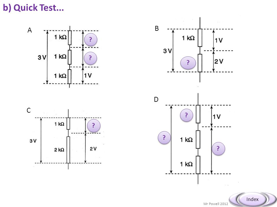 b) Quick Test... B A D C