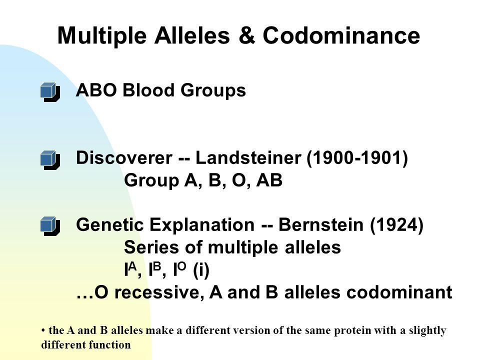 Multiple Alleles & Codominance