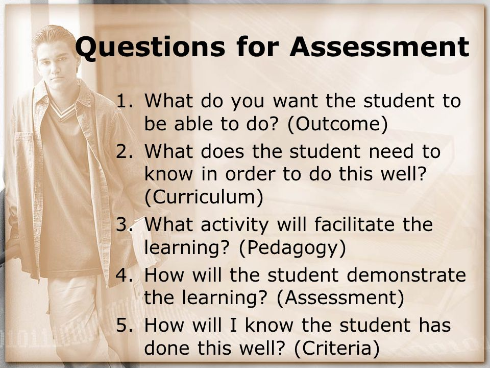 Questions for Assessment