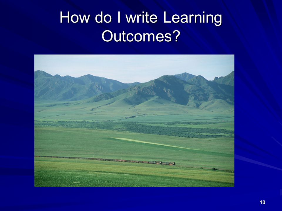 How do I write Learning Outcomes