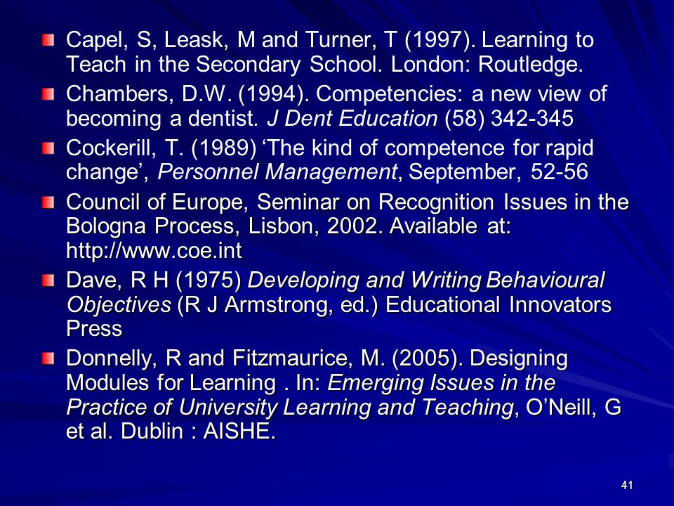 Capel, S, Leask, M and Turner, T (1997)