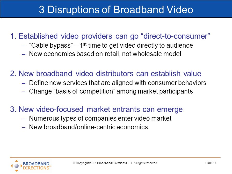 3 Disruptions of Broadband Video