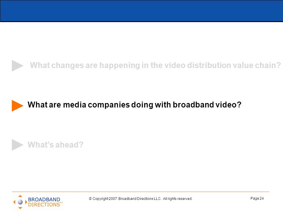 What changes are happening in the video distribution value chain