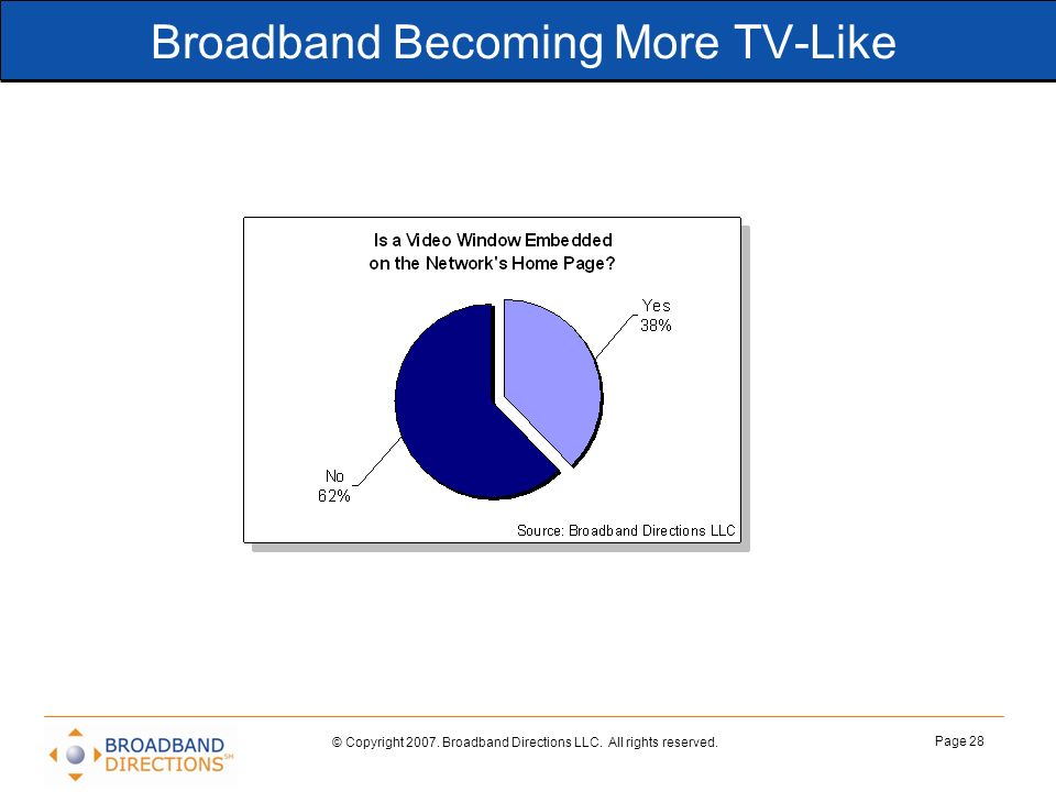 Broadband Becoming More TV-Like
