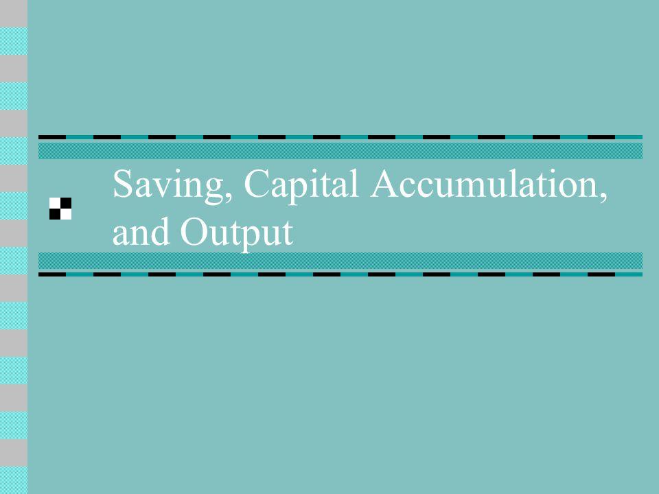 Saving, Capital Accumulation, and Output