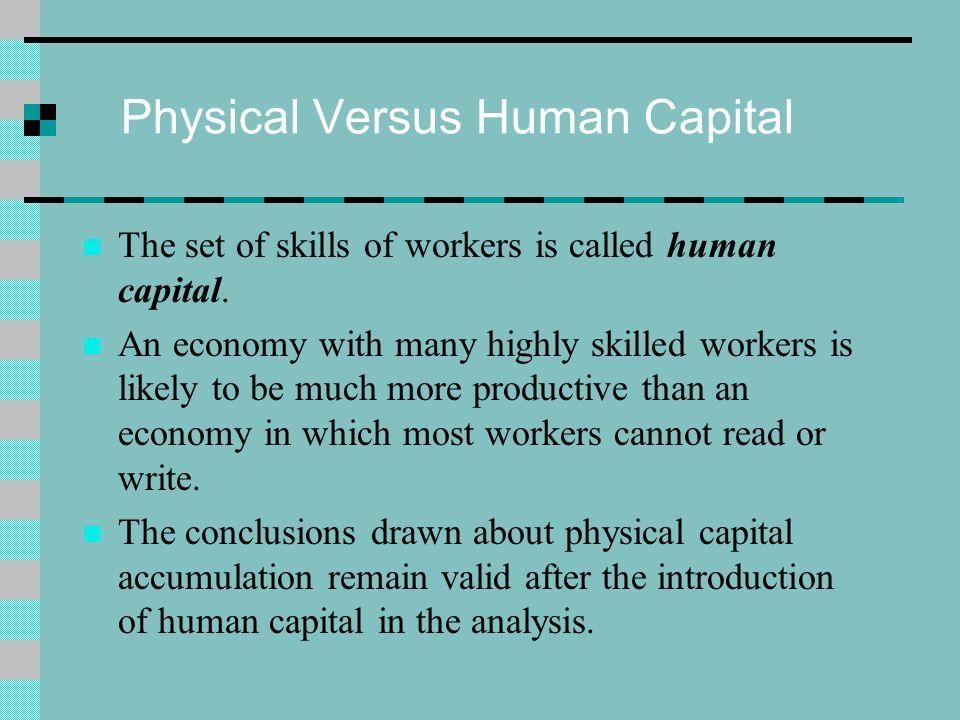 Physical Versus Human Capital