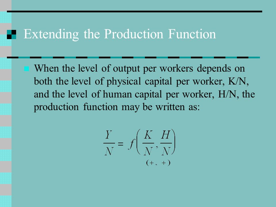 Extending the Production Function